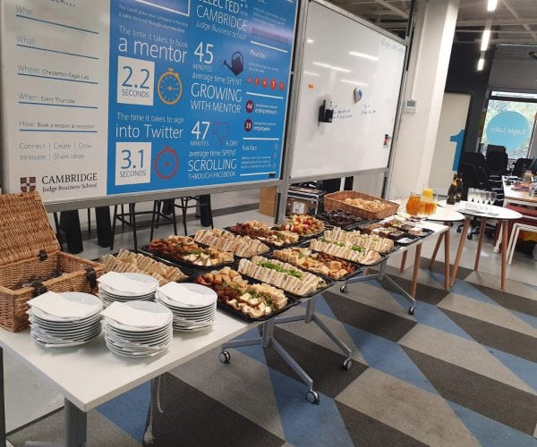 Sandwiches at business event