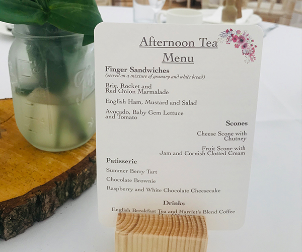 Afternoon Tea Wedding Catering