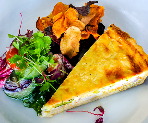 Quiche for business lunch in Bury St Edmunds